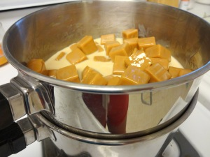 Caramello Blondies-Double Boiler